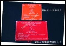Больше! новый ПЕЧАТНОЙ ПЛАТЫ Heatbed MK2A со светодиодной Резистор и кабель для 3D RepRap принтер ПАНДУСЫ 1.4 кровать 300*200*2.0 XT0359-3D