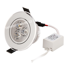 4PCS 3w LED downlight cool nature warm white AC85-265V ceiling light spotlight+ power 2yrs warranty