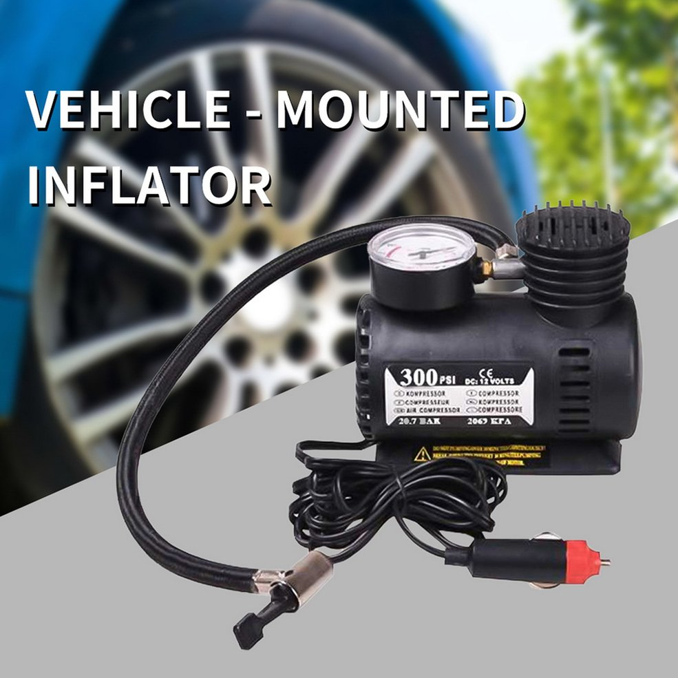 12v Miniature Locomotive Air Pump Vehicle Tire Air Compressor Portable Vehicle Electric Small Air Pump