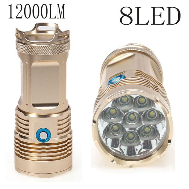 Top Bright 12000Lm XM-L T6 8 LED Tactical Flashlight Torch Camping Lamp Light 18650 battery trulinoya eltie ii 662ml fuji 1 98 m mh tune casting rods lure rod striped bass catfish culter pole