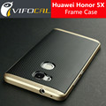 Para huawei honor 5x caso de tpu híbrido de silicio + pc dual capa frame cubierta trasera caso protector para huawei honor 5x móvil teléfono