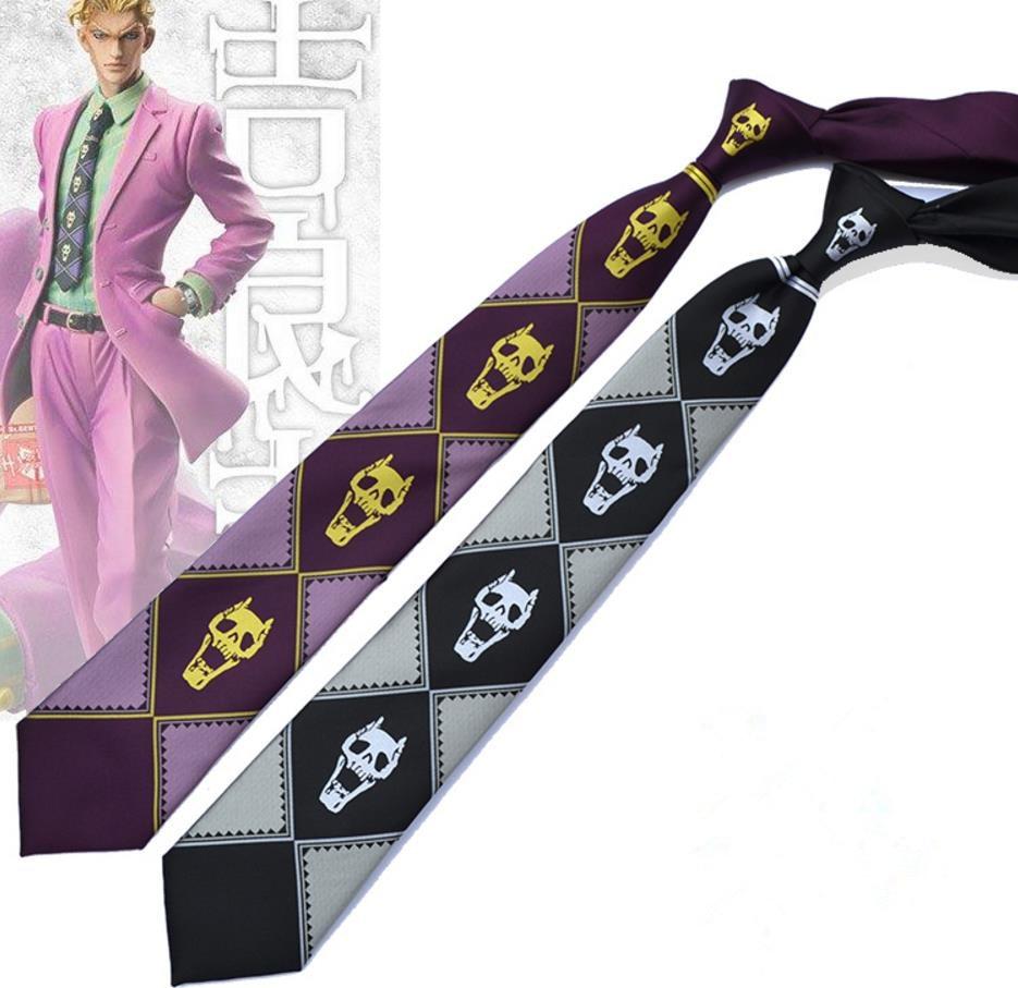 JoJo's Bizarre Adventure KILLER QUEEN Kira Yoshikage Skull Neck Tie Cosplay Costumes