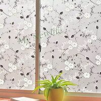 Chinese ink painting Window sticker Frosted Stained Glass Film Waterproof Self Adhesive Privacy film balcony Home Decor 90*500cm