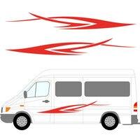 2x Stripes Motorhome Caravan Travel Trailer Camper Van Graphics Vinyl Graphics Kit Decals Car Stickers