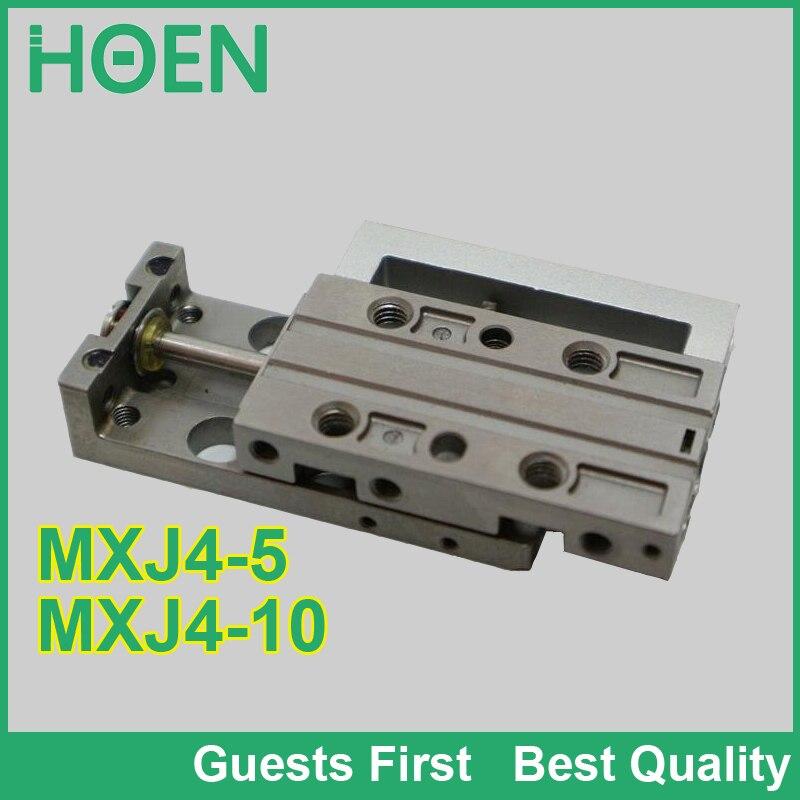 MXJ série glissière d'air table ylinder MXJ4-5 MXJ4-10 MXJ4-5C MXJ4-10C MXJ4-5CS mini vérin pneumatique glissière cylindre