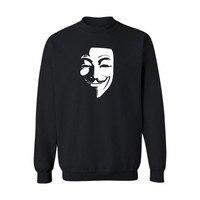 V Jak Vendetta Capless Męskie Swetry I Bluzy Hip Hop Jesień Męskie Swetry I Bluzy Ludziom Zmierzyć Mody Ubrania