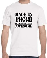 Summer Sleeves New Fashion T Shirt Short Sleeve Crew Neck Made In 1938 80 Years Of