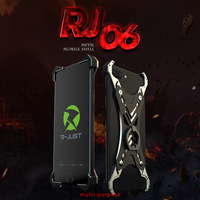 R JUST Armor Metal Case for iPhone 6 6s Plus 6 6s 7 Plus 7 8 Plus 8 with Kickstand for iPhone 6 6s 7 8 Plus