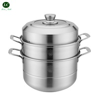 Cooking Steaming pot 304 stainless steel thick 2 layer 3 layer Steamer Pot steamed bread household Casserole Pot