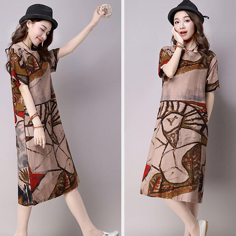 Linen Dress Online Shopping India Summer Dress Women 2017 Hippie Boho Plus  Size Vestidos Ukraine Floral Mori Girl Vintage Long Free Shipping Wholesale  And ... d0f7b1134