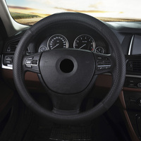 Car leather steering wheel cover for Kia Forte Cadenza Carens Soul Borrego Volvo S80L S60L XC60 V60 car interior accessories
