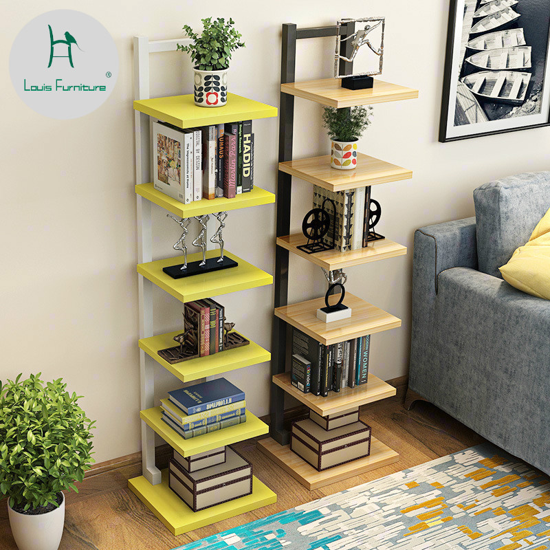 US $29.9 |Louis Fashion Bookcases Simple Tree Partitions Simple Modern  Living Room Storage Bedroom Children Bookshelf Landing-in Bookcases from ...
