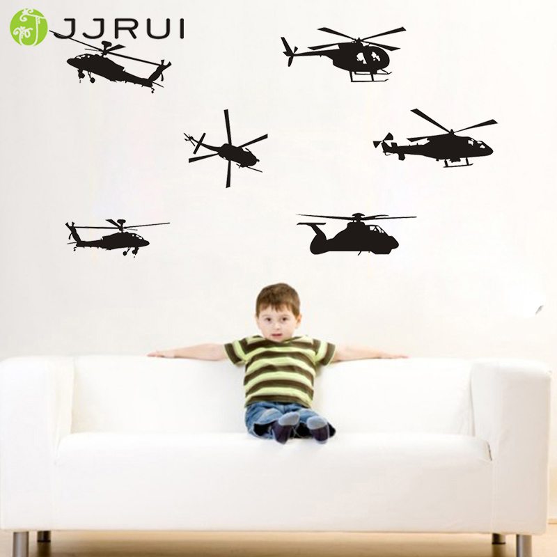 Jjrui airforce helicopter vinyl wall decal wall art decal for Decor 6 air force