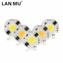 Светодиодный 3 Вт 5 Вт 7 Вт 9 Вт COB чип лампа 220 В Smart IC нет необходимости драйвер светодиодный светильник для наводнения Точечный светильник Diy светильник ing холодный белый теплый белый
