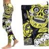 Skull Yoga Pants Women Elastic Slim Workout Leggings 5