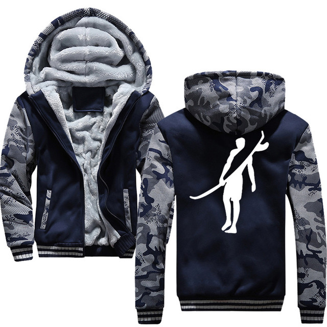 Surf Sports 2019 Winter New Tracksuit Men Fashion Thicken Velvet Casual Hooded Warm Thick Hoodie Solid 2
