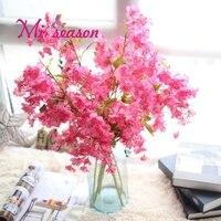 Miiseason Vivid Artificial Flower Cherry Blossom Sakura Romantic Plum Flower For Home Wedding New Year Party