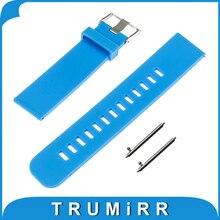 Banda de caucho de silicona de 22mm de liberación rápida para lg g watch w100/rw110/urbano w150 asus zenwatch 1 2 pebble tiempo correa de pulsera