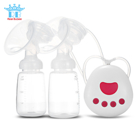 RealBubee Infant Breast Pump Breastfeeding Double USB Electric Breast Pumps 3D Damping System Low-Noise Motor Heat-Resistant
