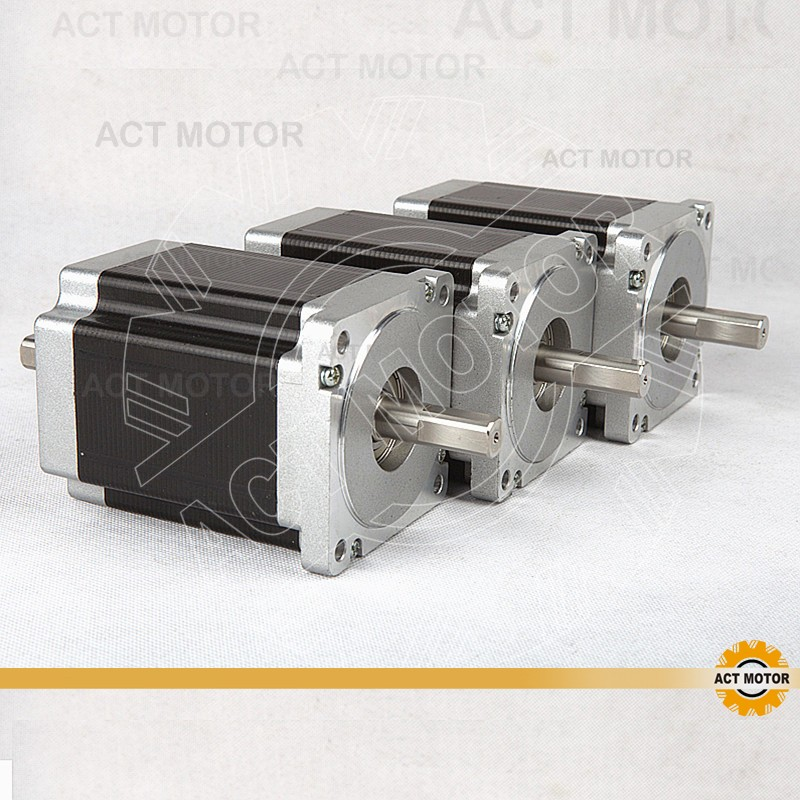 ACT Motor 3PCS Nema34 Stepper Motor 34HS9820B 890oz 98mm 2A 8-Lead Dual Shaft CE ISO ROHS CNC Router US Plasma Laser Engraving act motor 3pcs nema34 stepper motor 34hs9820b 890oz 98mm 2a 8 lead dual shaft ce iso rohs cnc router us de uk it sp fr jp free page 4