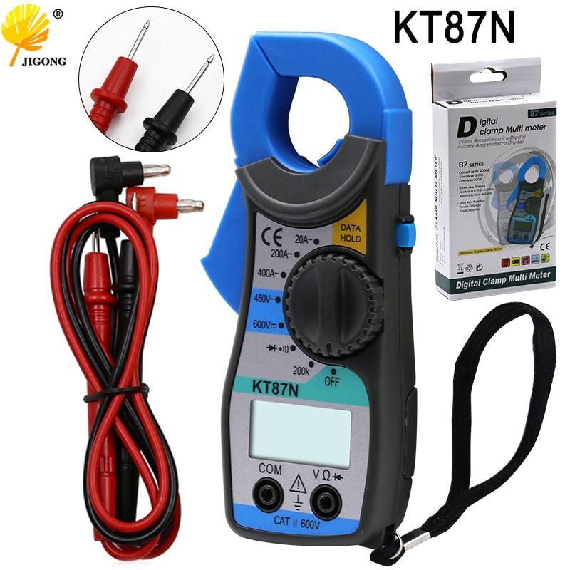 Kt87n multímetro digital, amperímetro, medidor de braçadeira atual, pinça métrica ac dc testador de tensão atual digital