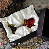 Vintage European Korean Princess Jewelry Box Rose Shape Desktop Storage Box Home Decoration Desk Sets