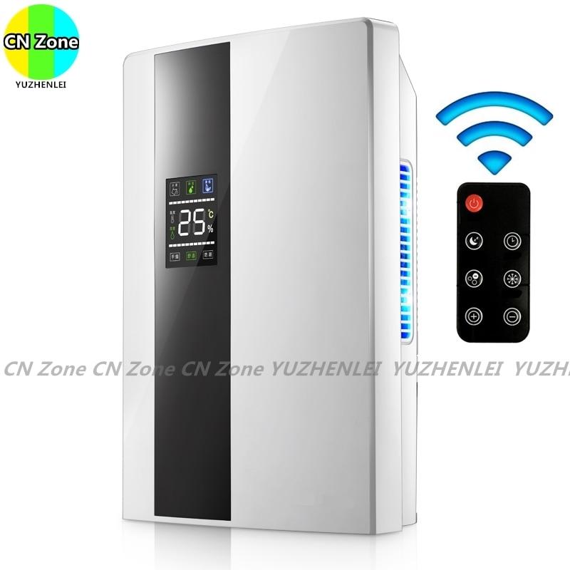 Control remoto inteligente deshumidificadores continua de purificar el aire Máquina secadora de la humedad absorber casa electrodomésticos
