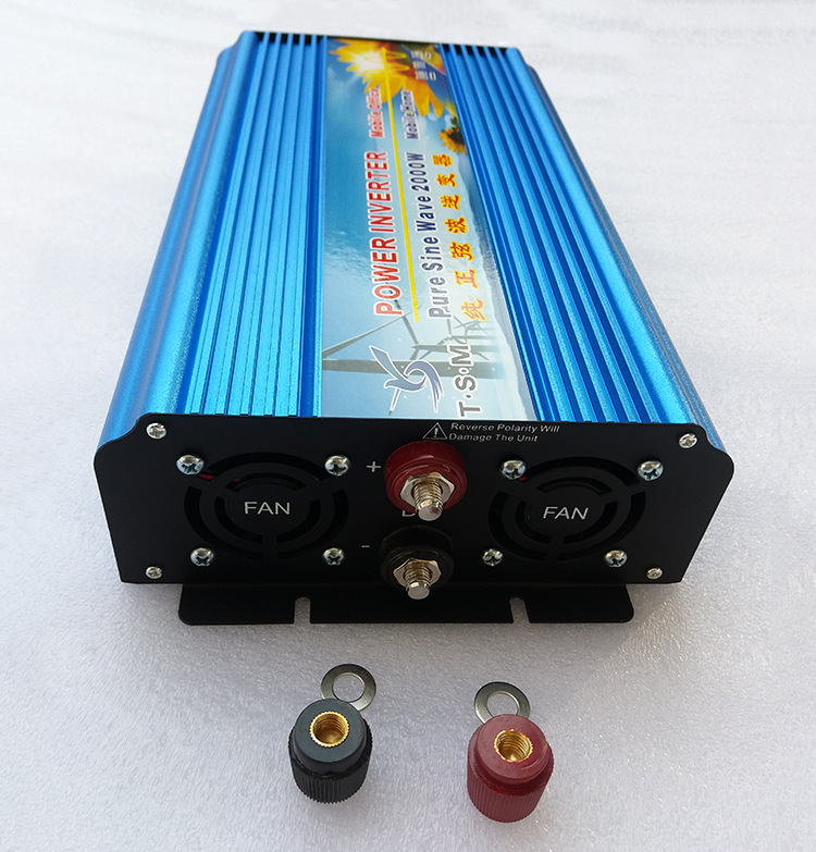2000W Peak 4000W Power Inverter 12V DC to 110V 120V 60Hz AC Converter Pure Sine Wave Solar Power Inverter for Home