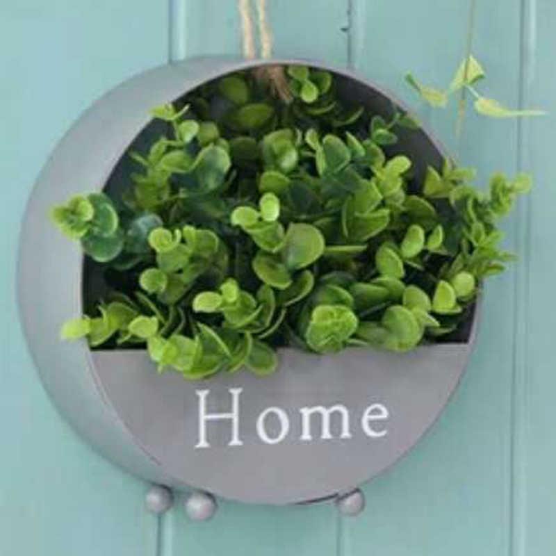 イン鉄壁掛けプランター庭多肉植物植木鉢スタンドストレージバスケット家の装飾植木鉢 Bloempot