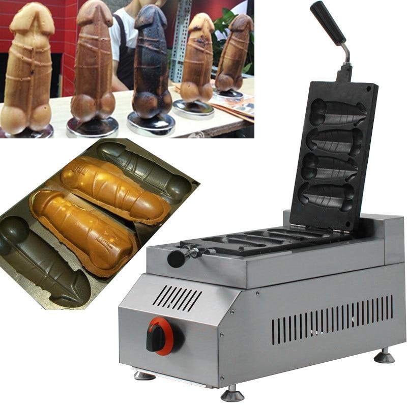 2015 gas type Male penis waffle /Hotdog Penis Waffle Maker Iron Machine Baker mig mag burner gas burner gas linternas wp 17 sr 17 tig welding torch complete 17feet 5meter soldering iron air cooled 150amp