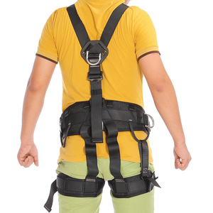 Image 2 - XINDA Top Quality Professional Harnesses Rock Climbing High altitude protection Full Body Safety Belt Anti Fall Protective Gear