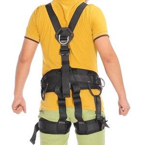 Image 2 - XINDA 최고 품질의 전문 하네스 암벽 등반 높은 고도 보호 전신 안전 벨트 안티 가을 보호 장비