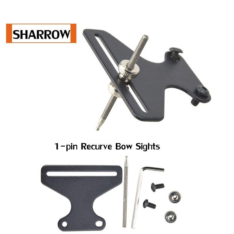 1-pin Recurve Bow Sights Laser Micro Adjust Optical Fiber Micro Optic Sight Flecha 1 Pins