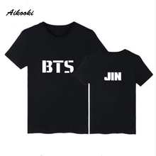 Aikooki New Casual Tee Shirts BTS T-Shirt Men/Women T Shirt Summer Fans Boys Girls Korean Hip Hop Fashion Funny Tshirt Top Tees