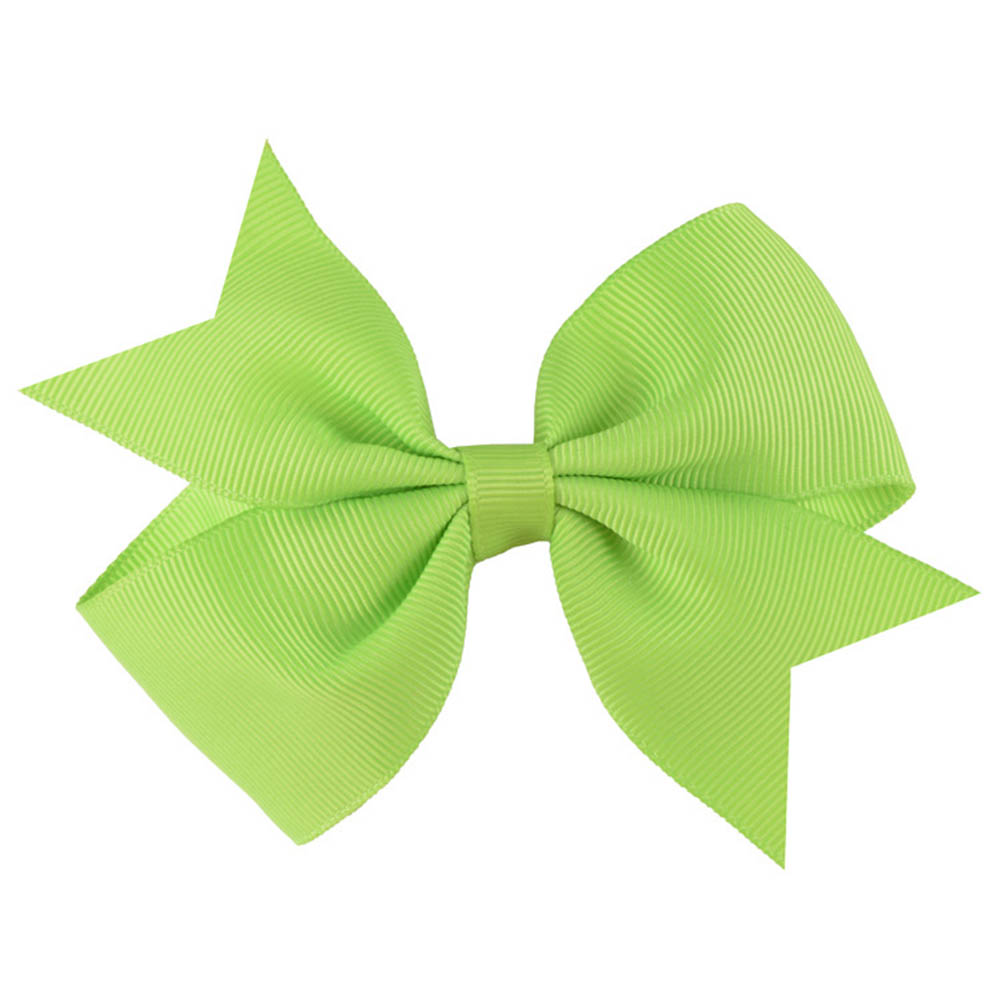 New V-shaped Bow Knot Girls Kids Ribbon Hairpins Children Ribbed Bowknot Hair clips Colorful Barrettes Headwear