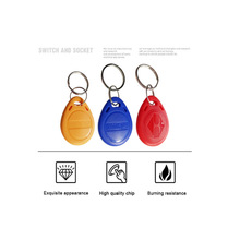 100pcs RFID Keychain Stickers Card Tag Key 125khz ID Keyfob Access Control Time Attendance Sticker Fob Token Ring цена