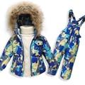 Горячая Продажа Детская Одежда Мальчиков Девочек Зимой Вниз Пальто Детей Теплые Куртки Малыш Snowsuit Верхняя Одежда Пальто + Брюки Одежда набор