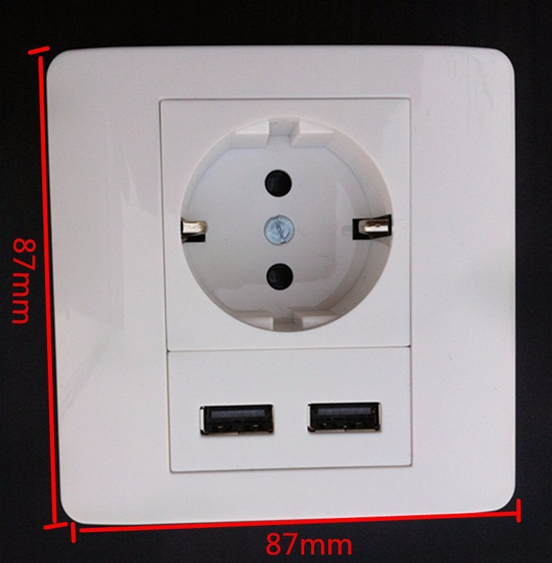 Homekit 2100 mah Tactile Commutateur Chargeur Mural Adaptateur Prise EUROPÉENNE Prise Bouton-Poussoir D'alimentation Double Port USB Sortie Panneau Interrupteur tactile