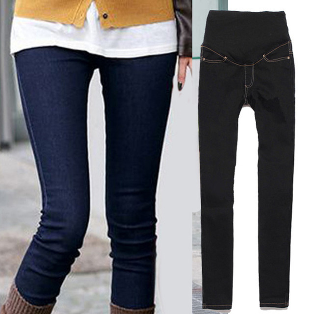 Hot Pregnant Women Boots Pants Pregnant Women Jeans Fashion Thin Section Pregnant Women Care Abdominal Pants Feet Pencil Pants