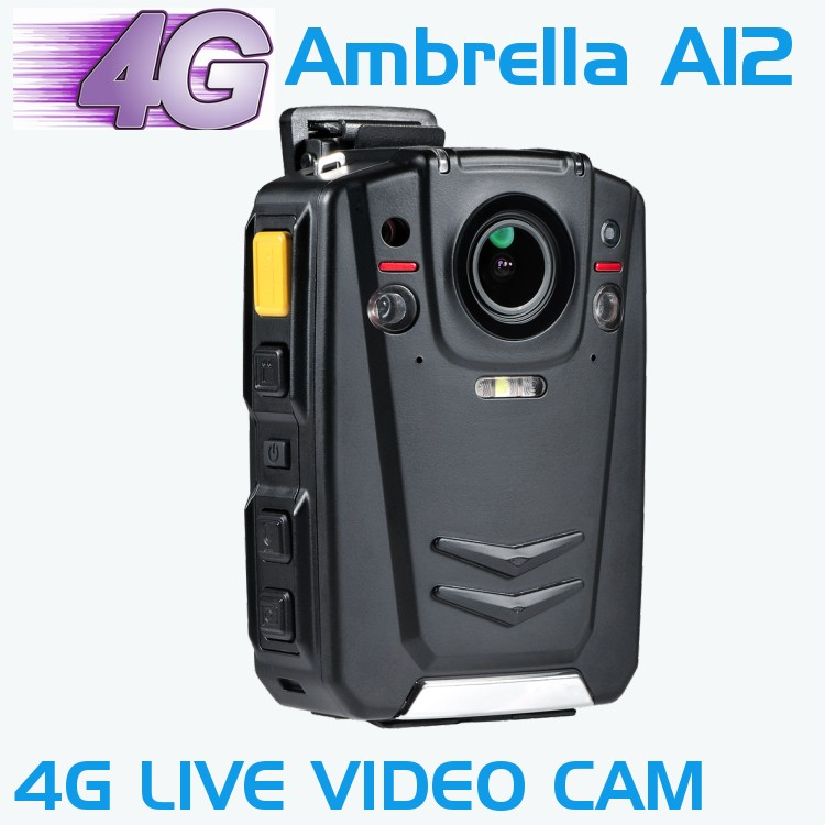 HD 1080P Multi-functional Body Worn IR Night Vision Camera Support 4G WIFI GPS With Ambarella A12 Chip