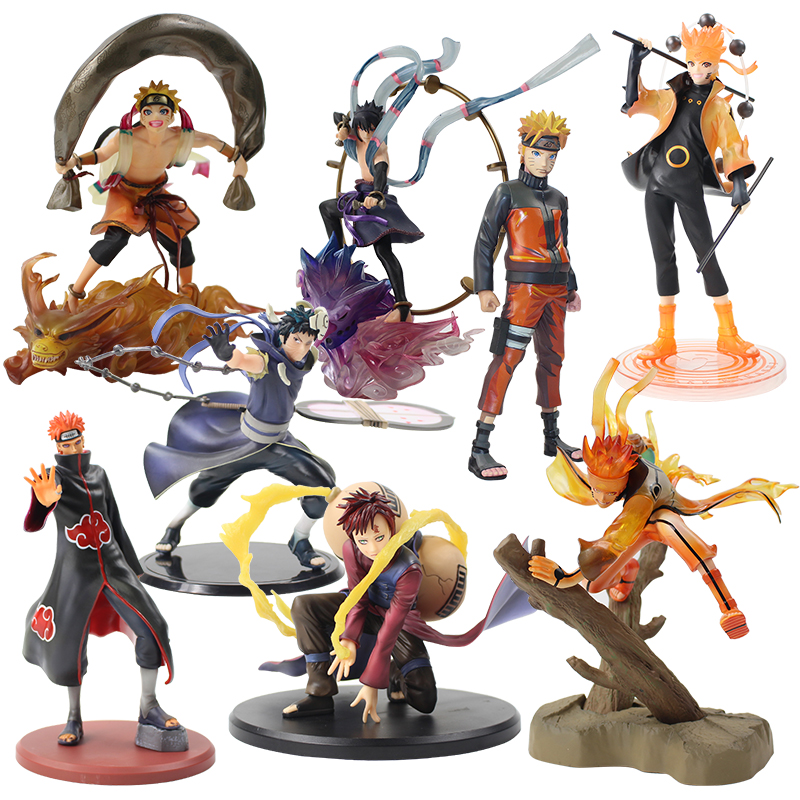 16-25cm Naruto Shippuden Uzumaki Deva Path Pain Gaara Obito Uchiwa Uchiha Sasuke PVC Action Figure Collectible Model Toy Doll j ghee naruto shippuden q uchiha sasuke movable 707 nendoroid doll pvc action figure collectible model toy brinquedos