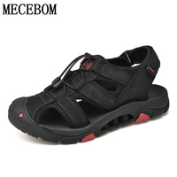 Men's Summer Sandals brand genuine leather beach sandals for male new men casual shoes size 39 44 8239 1m