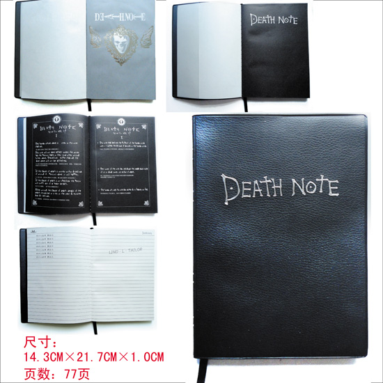 Death Note notebook feather pen set Anime Death Note cosplay death-book + Ryuuku quill pen collectors edition free shipping