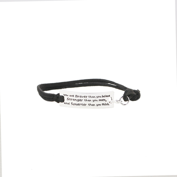 you are braver than you believe stranger than you seem smart than you think bracelets women rope chain economic bracelet gift image