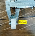 2 unids/lote 28mm fija muebles caster rueda de nylon rueda del balanceo de ruedas de goma para las sillas/mesas/muebles