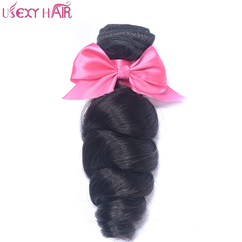 USEXY HAIR Brazilian Loose wave 1 bundle Ntaural Color Hair Weave Bundles Remy Hair Extension Free Shipping Natural Color
