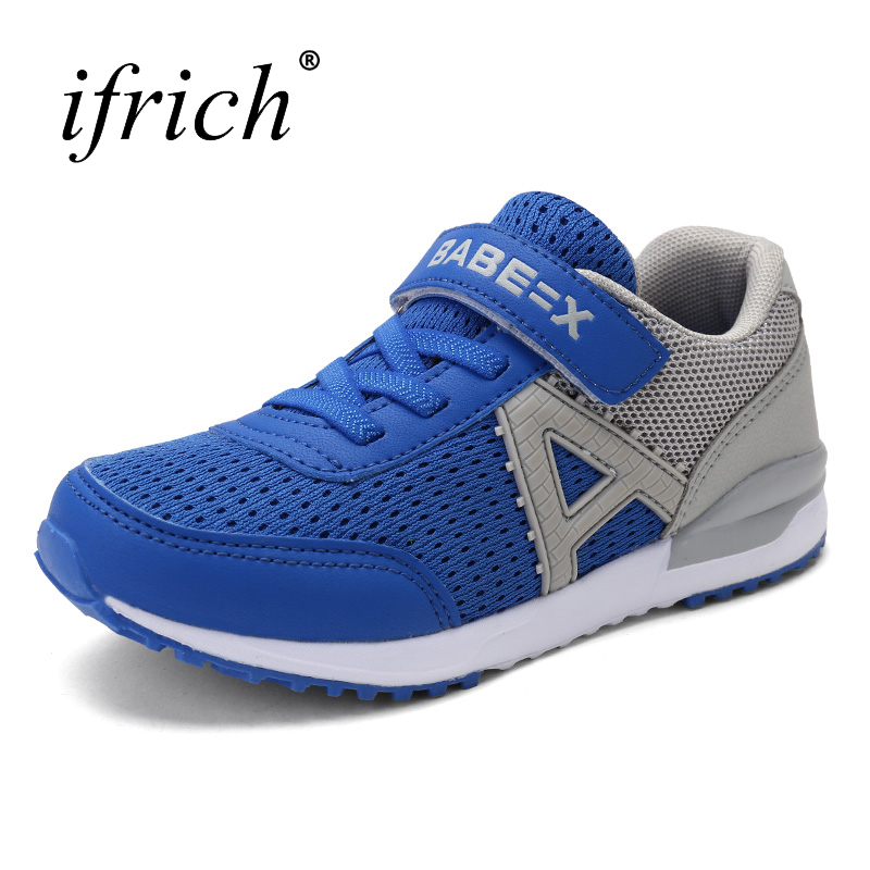 2017 New Arrival Summer Boys Trainers Kids Mesh Breathable Kids Trainers Blue Green Footwear Children Lacke Up Child Sneakers