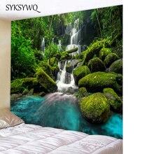 Природный пейзаж водопад Настенный Ковер для комнаты в общежитии Декор гобелен настенный Декор для дома Покрывала