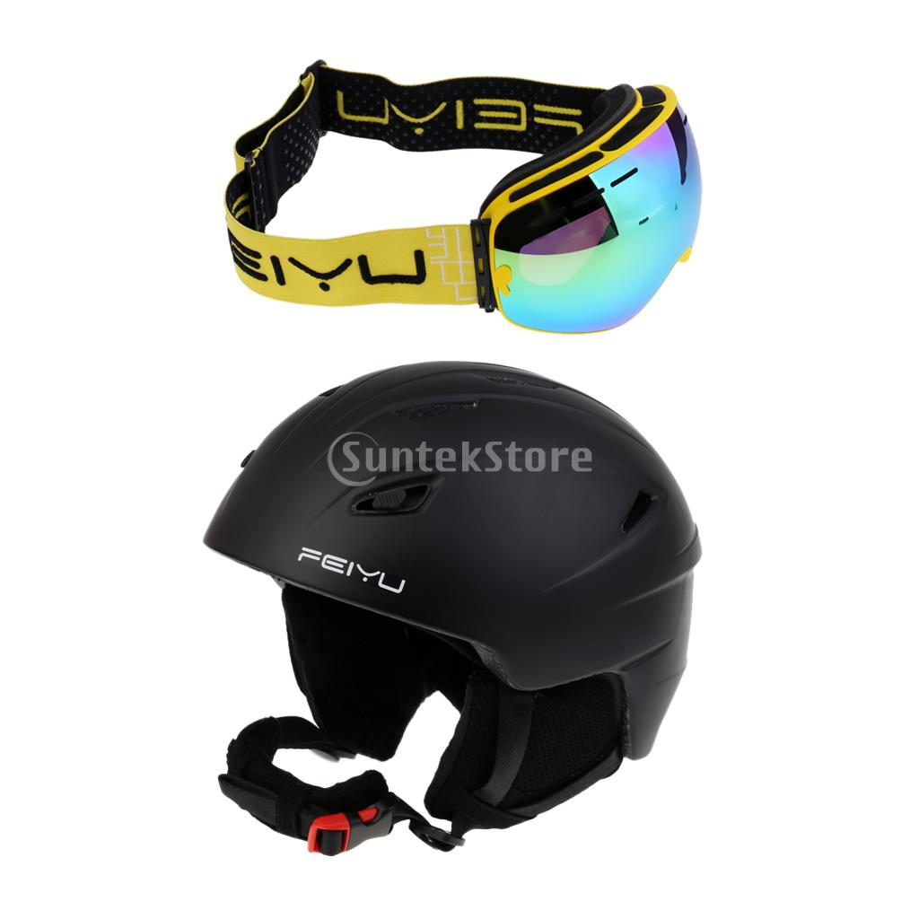 Pro Ski Helmet Skateboard Skiing Snowboard Winter Sport Helmet + Ski Goggles Anti-fog and UV protection