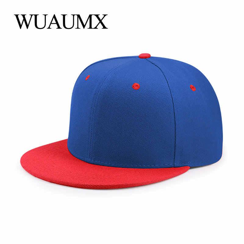 90ae4d50ef2ad Wuaumx Summer Baseball Cap For Men Flat Brim 5 Planas Hiphop Hat Women  Fitted Size Bone